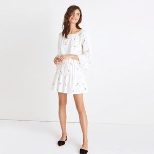 Madewell 'Making Faces' White Tiered Mimi Dress